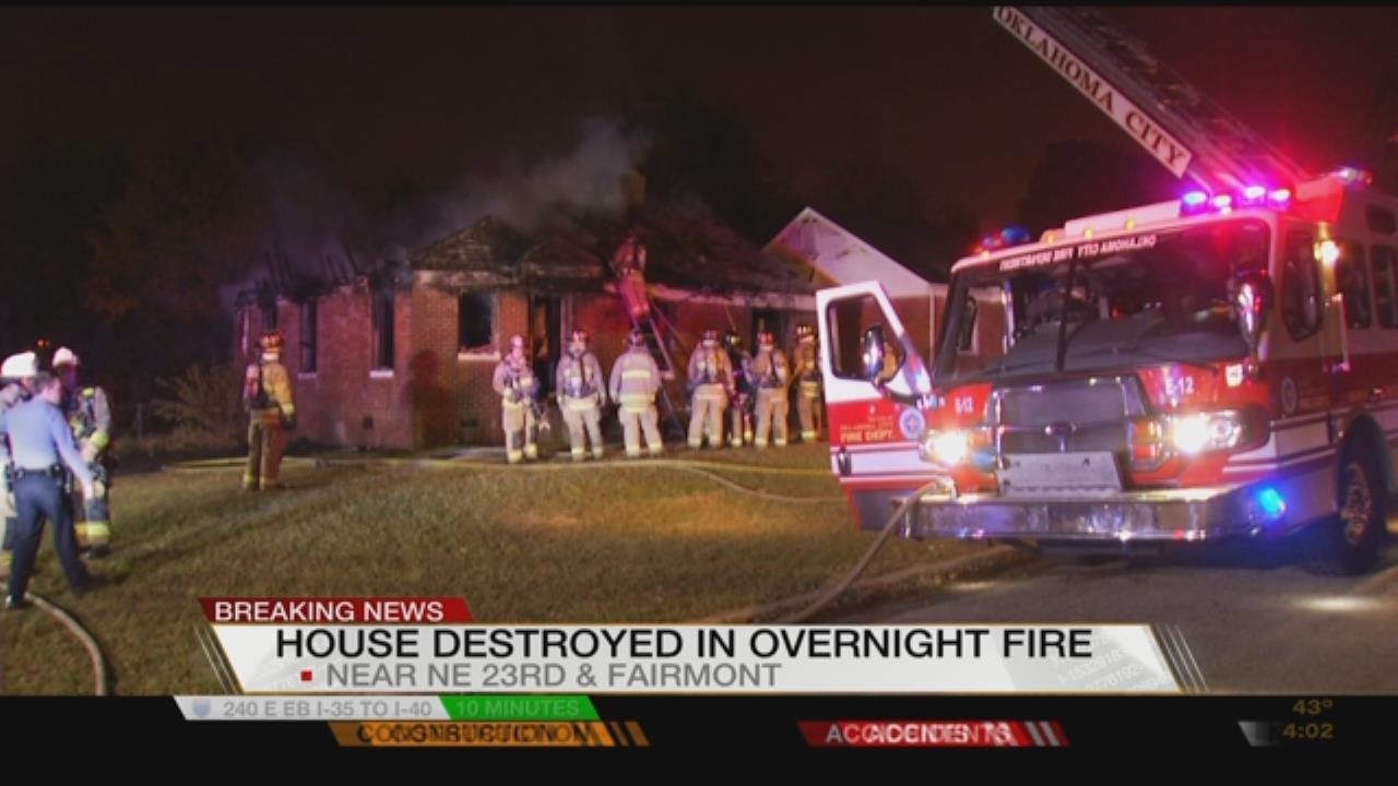 Vacant Home Destroyed By Fire In NE OKC