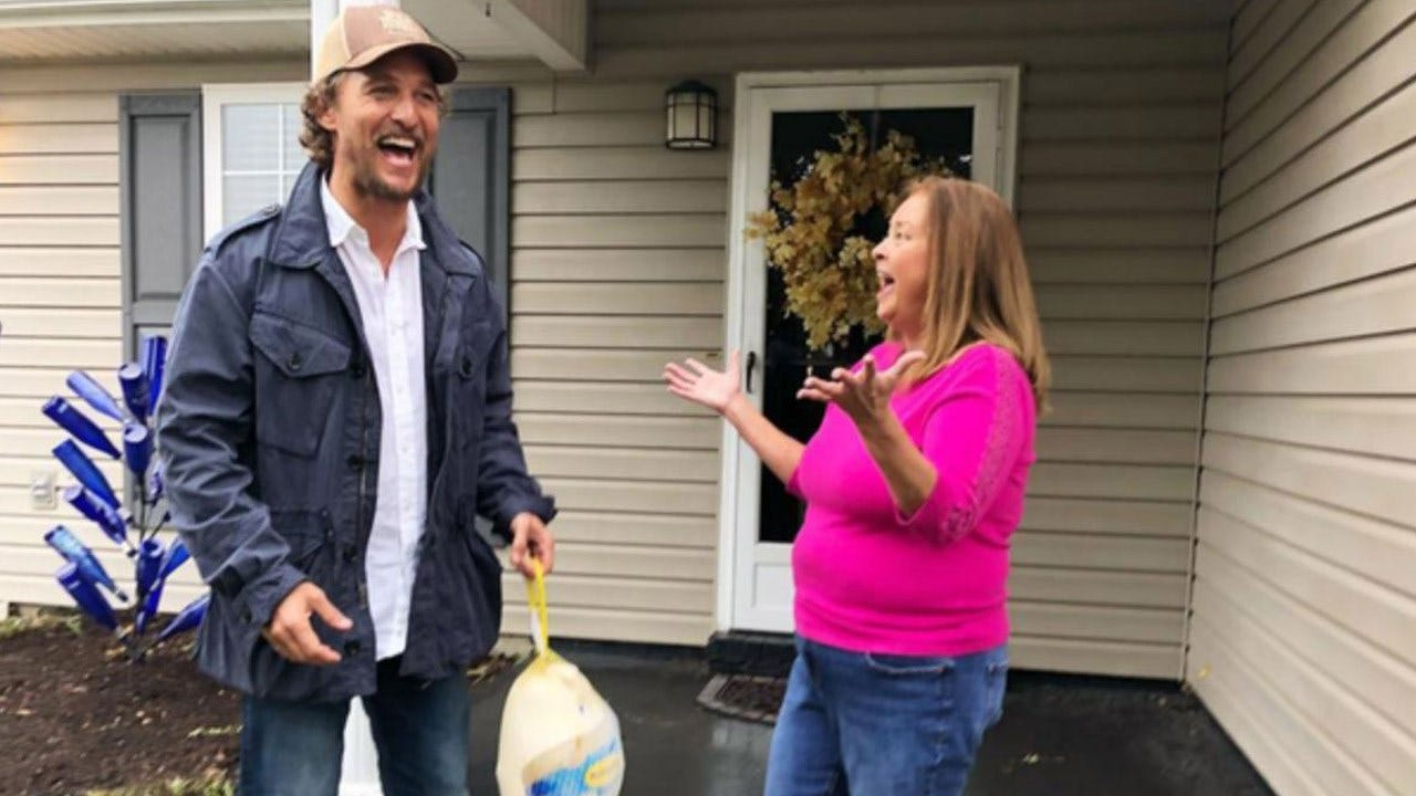 Matthew McConaughey Delivers Free Thanksgiving Turkeys To Families