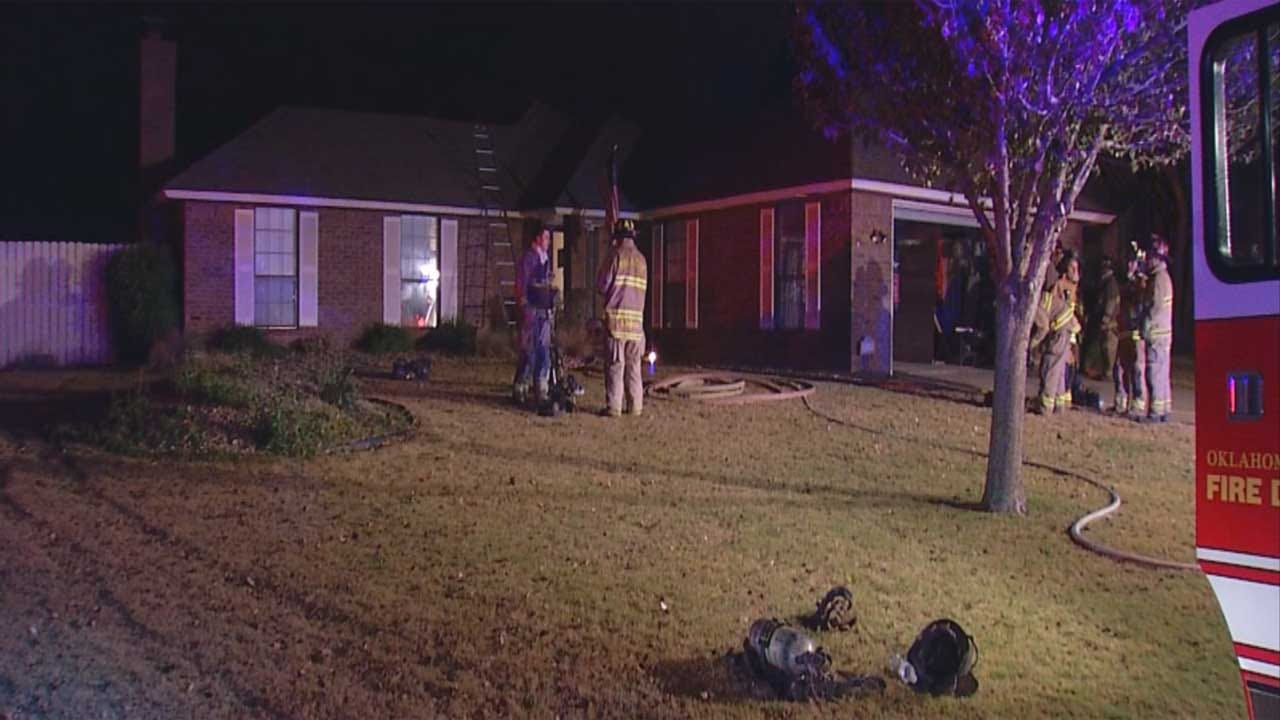 NW OKC House Fire Caused By Fireplace