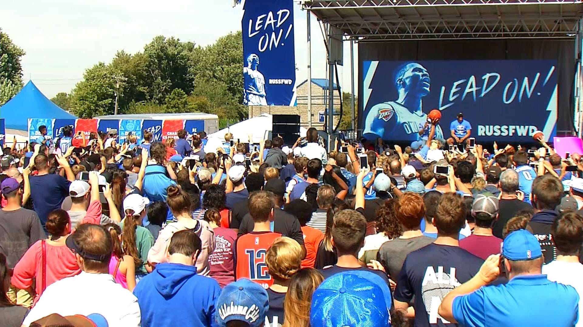 Russell Westbrook Speaks To Fans At ThunderFest In Edmond
