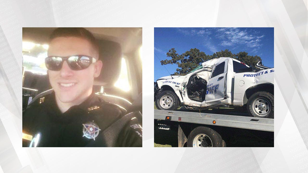 Pittsburg Co. Deputy Injured After Patrol Car Hydroplanes Into Tree