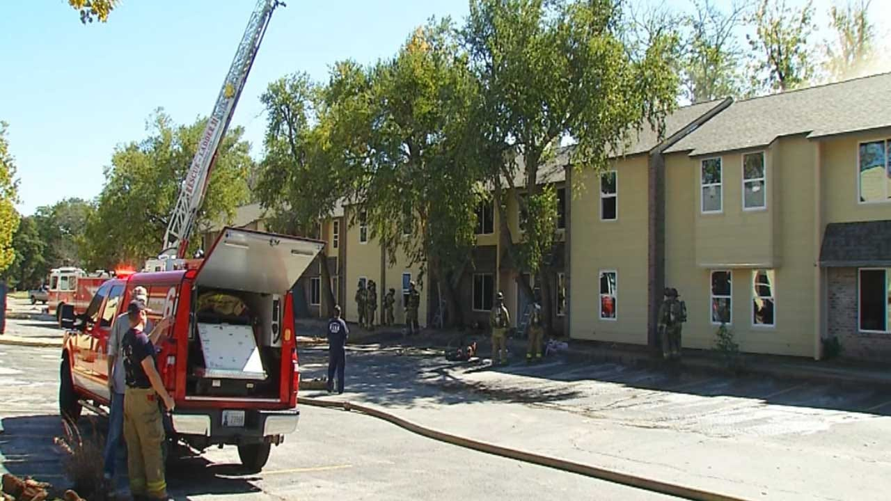 Arson Investigation Underway At Former Lantana Apartments