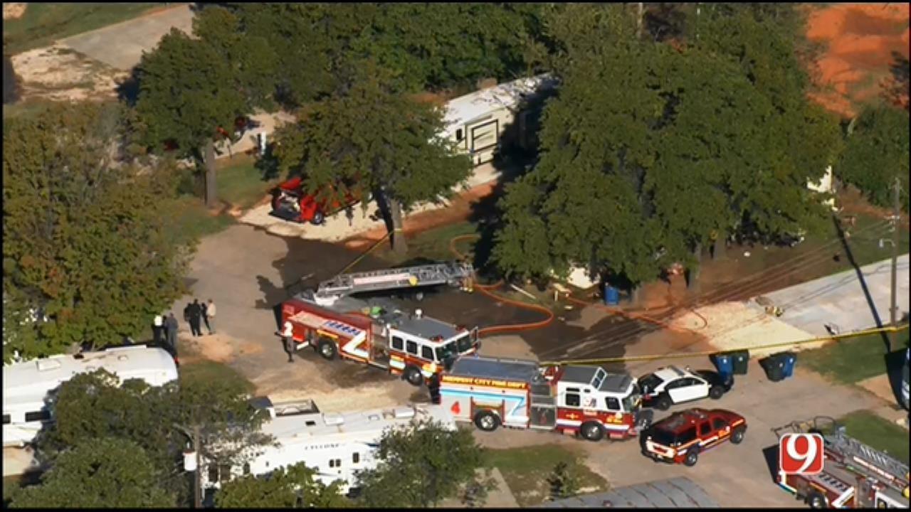 Fire Crews Find Man Dead Inside MWC Mobile Home