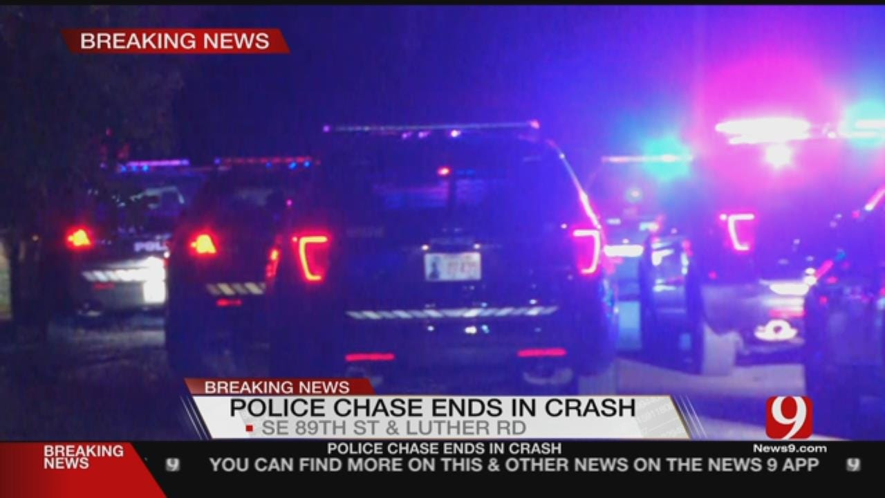 High Speed Chase In SE OKC Ends In Crash, One Arrest