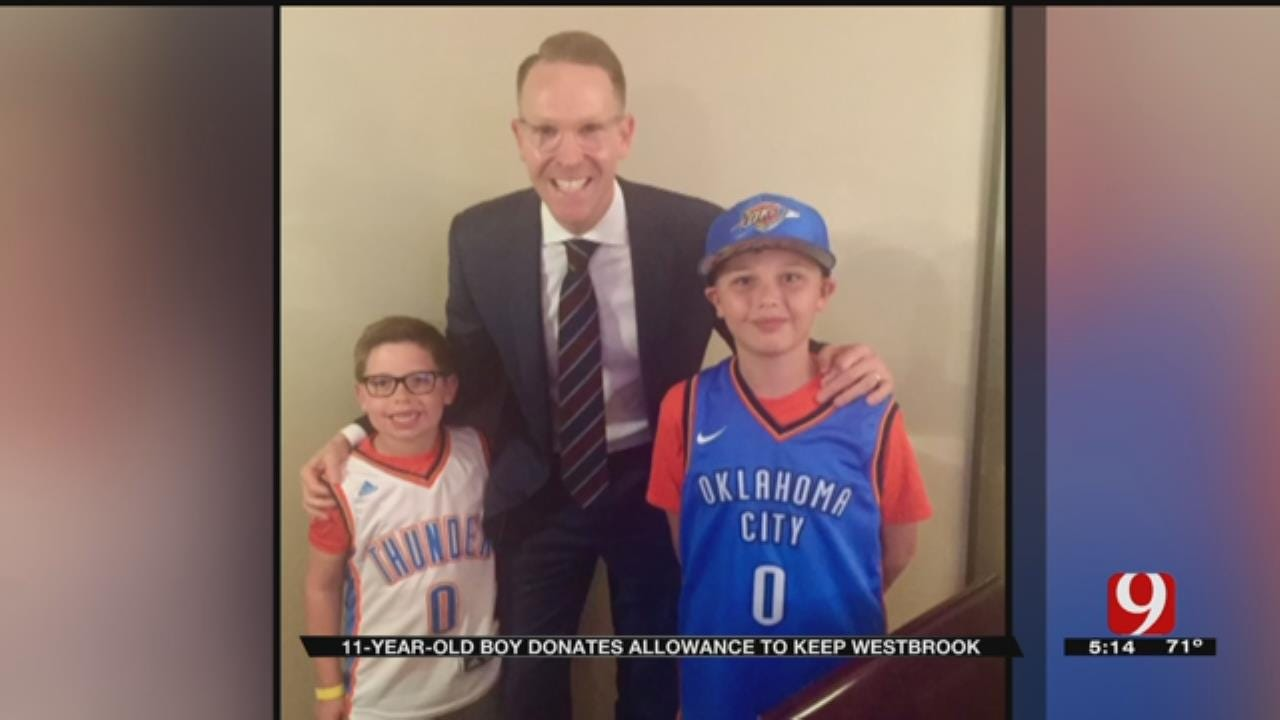 11-Year-Old Thunder Fan Donates Allowance To Keep Westbrook