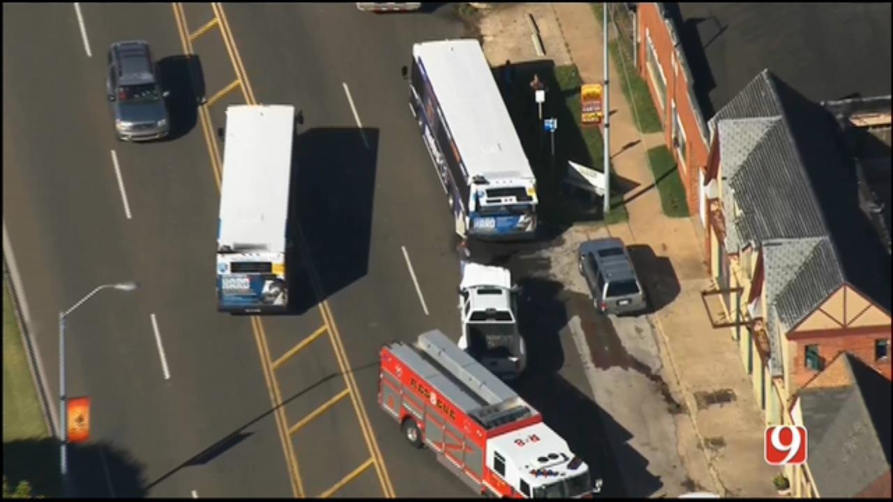 Crews Respond To Injury Crash Involving City Bus