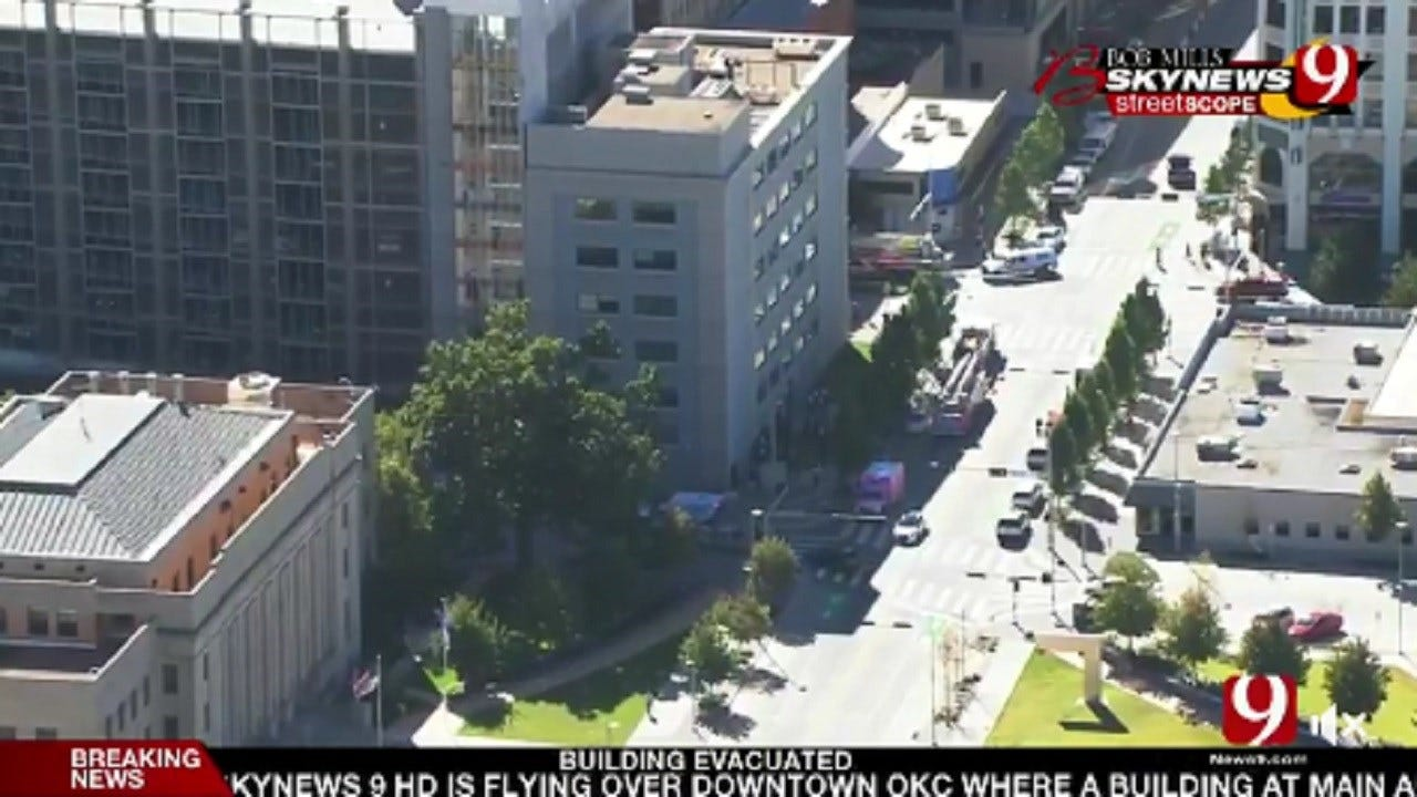 Two Transported To Hospital After Evacuation Of Downtown OKC Building