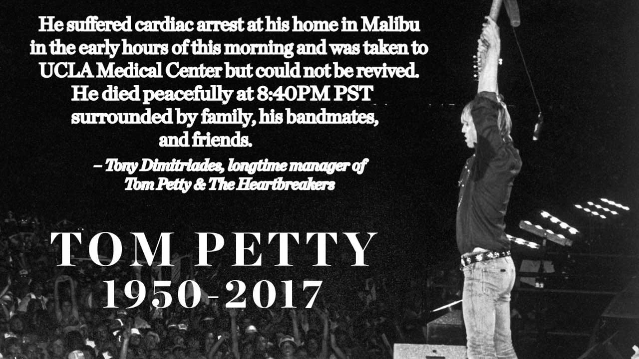 Manager Confirms Tom Petty, 66, Died Of Cardiac Arrest Monday