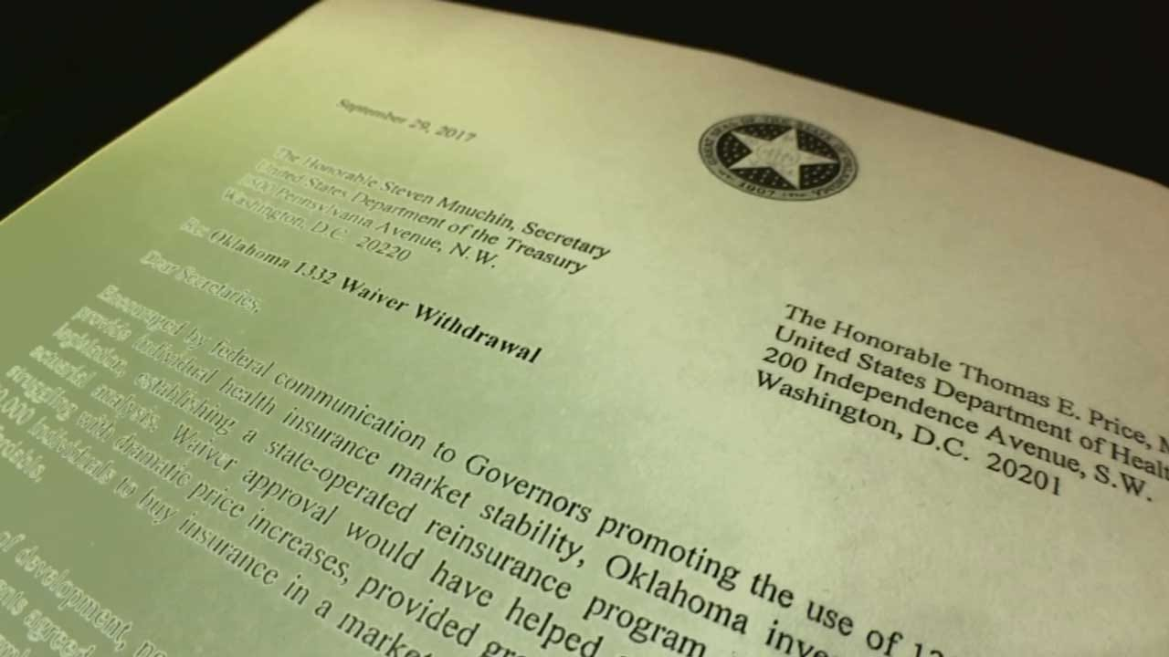 Plan To Lower Oklahoma Health Insurance Premiums Not Approved
