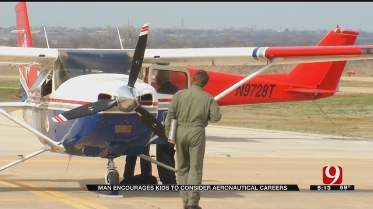 Shawnee Man Encourages Kids To Consider Aeronautical Careers