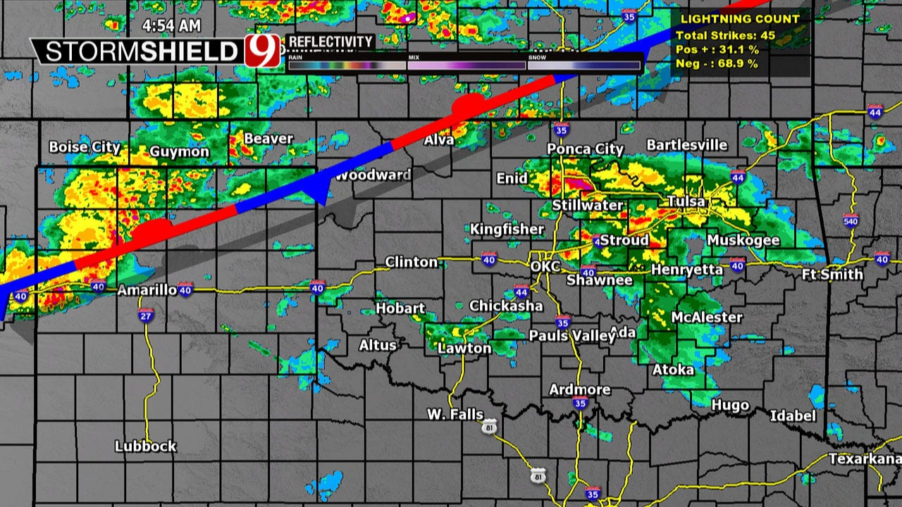 Waves Of Rain Expected In Oklahoma Wednesday