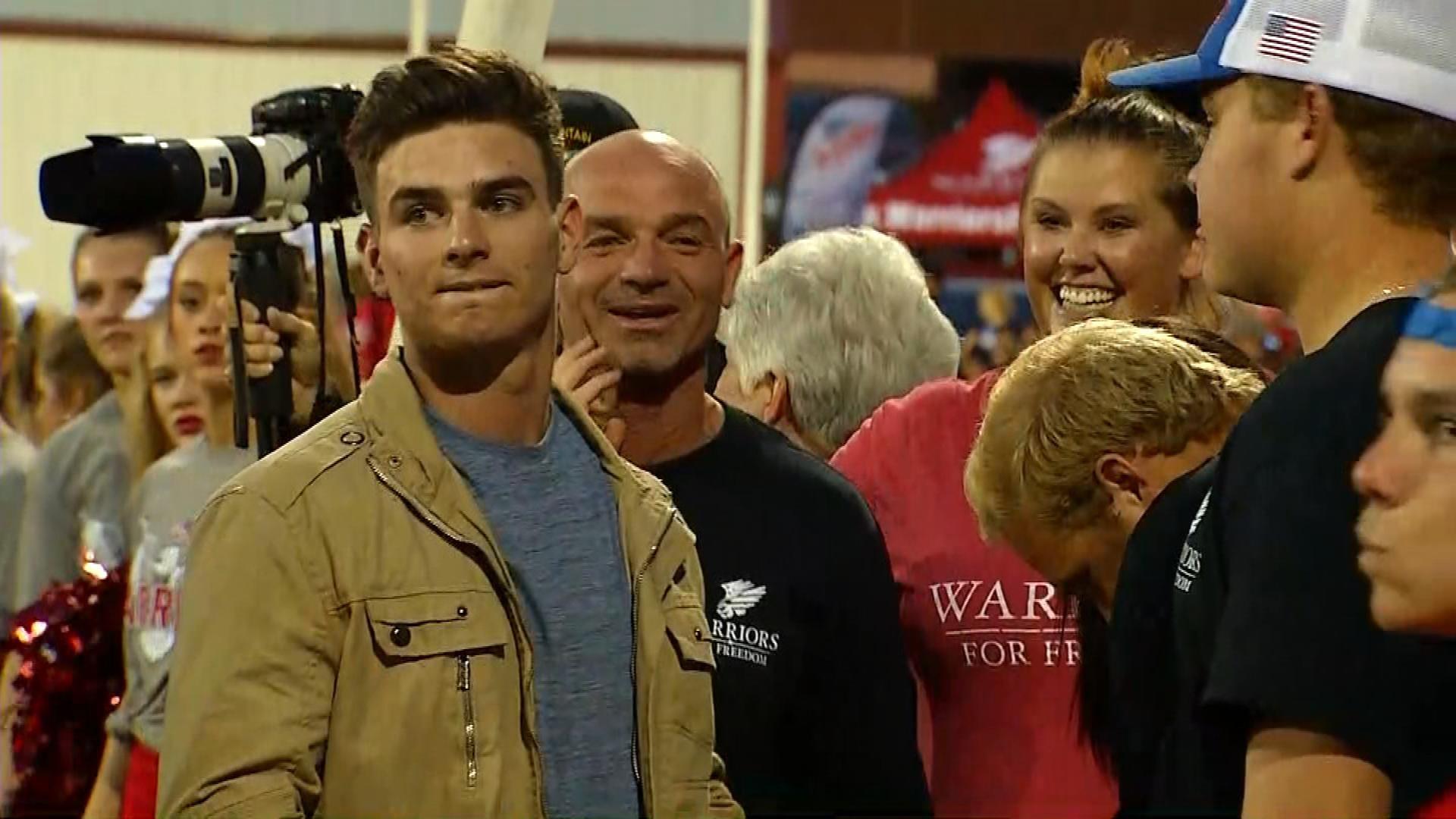Soldier Makes Surprise Return To Family At Washington Football Game