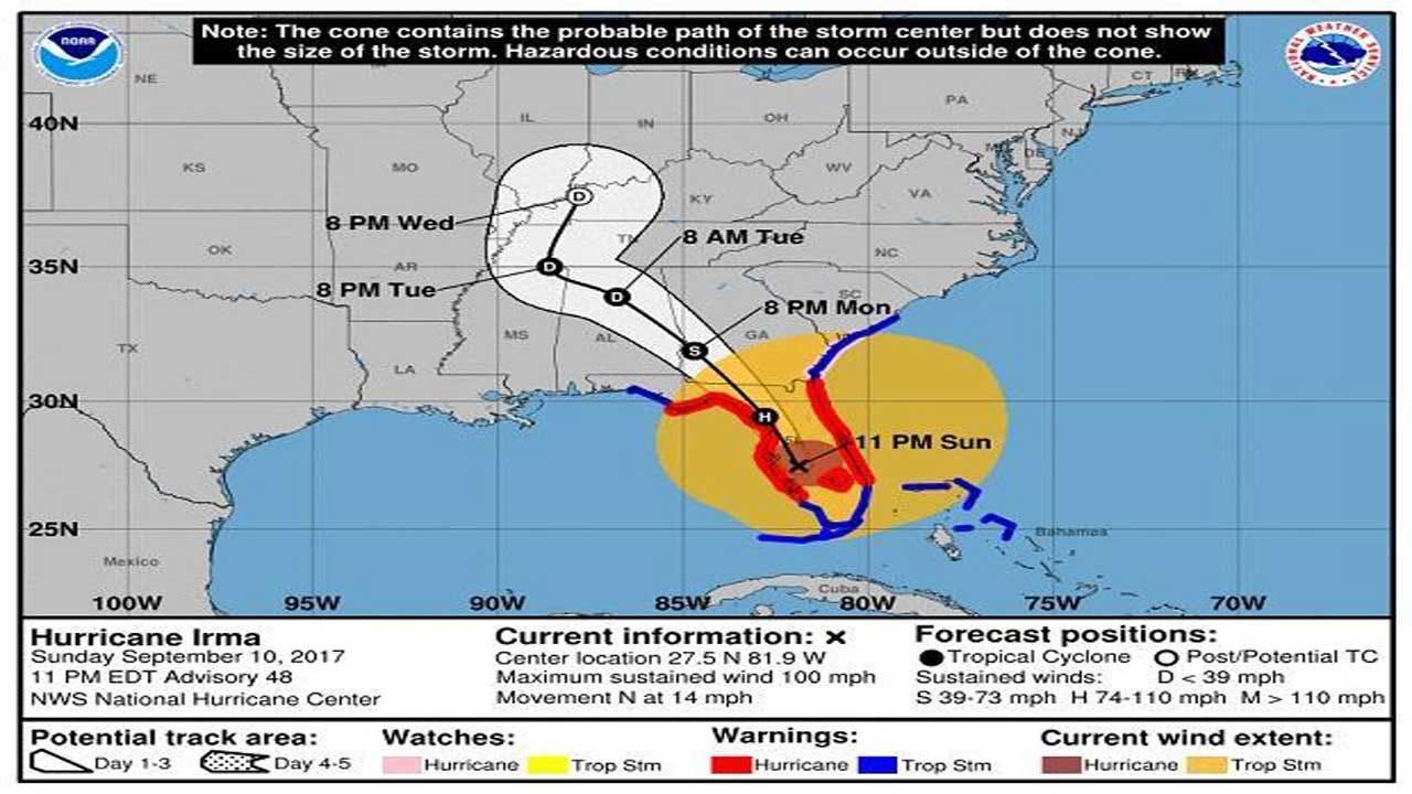 Hurricane Irma Bears Down On Tampa-Live Updates