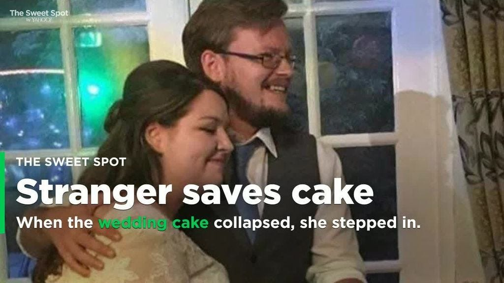 Kind-Hearted Stranger Saves Couple's Wedding Cake