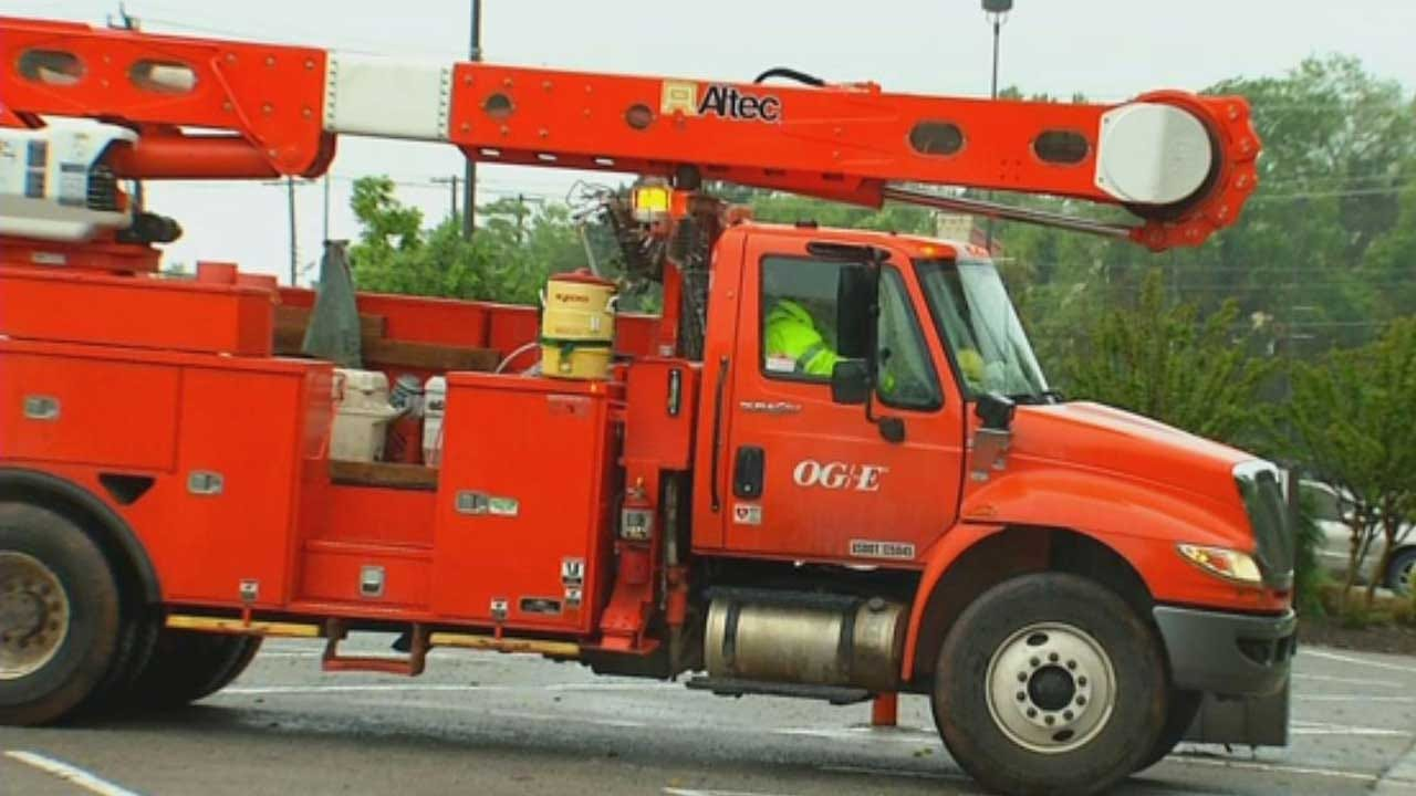 Crews Continue Work To Restore Power After Severe Storms In OK