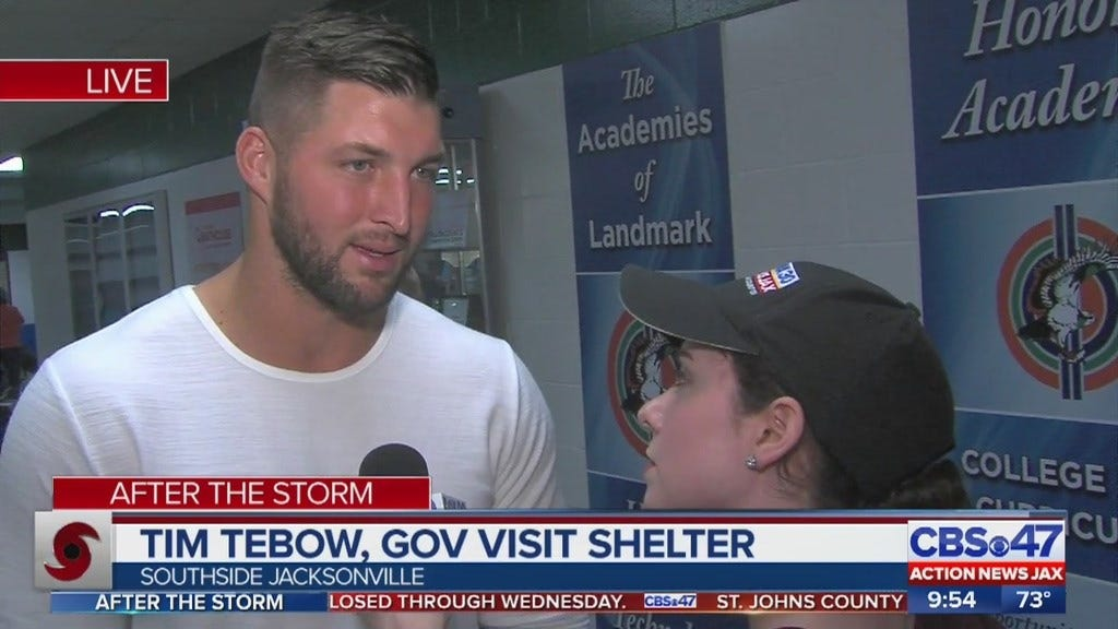 Tim Tebow Visits Florida Shelter In Aftermath Of Irma