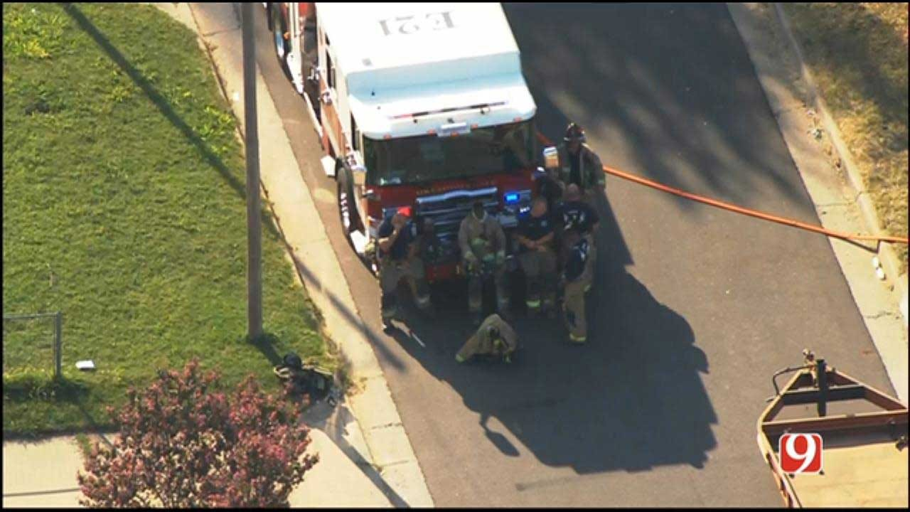 OKCFD: Residents Evacuated After Gas Line Hit In SW OKC Neighborhood