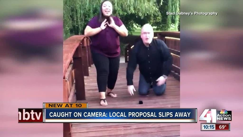 Caught On Camera: Couple Loses Engagement Ring During Proposal