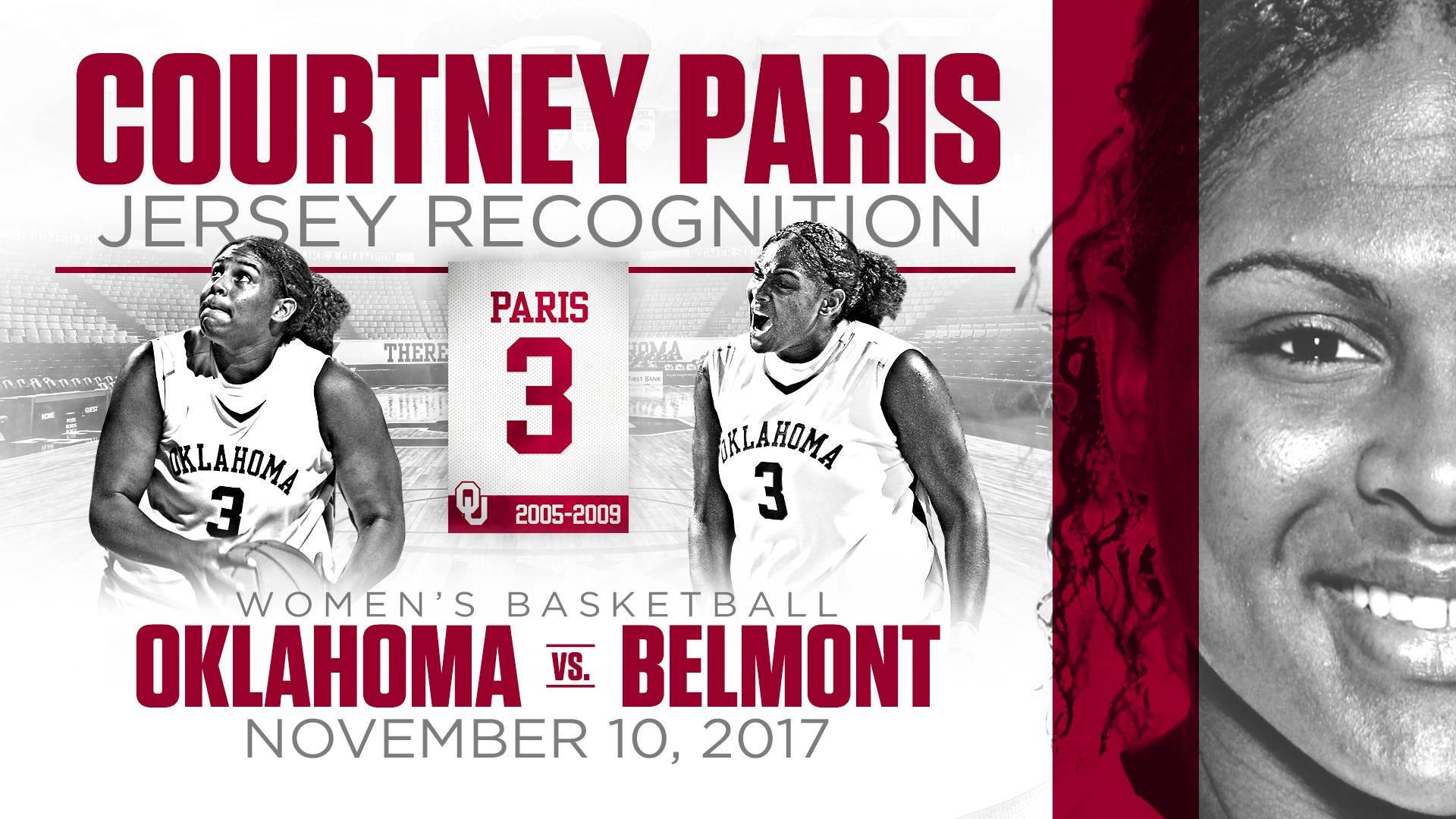 Paris To Return To OU For Jersey Honoring Nov. 10