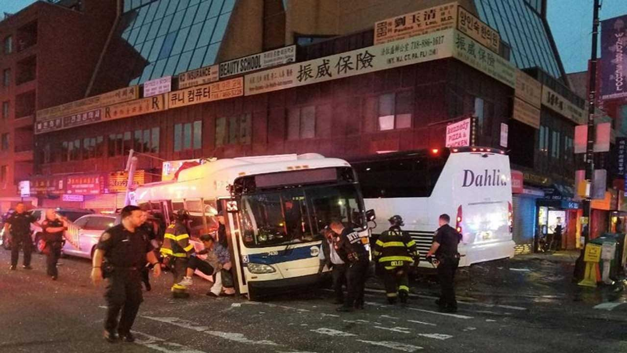Charter Bus Barrels Into NYC Bus, Killing 3 And Injuring 16