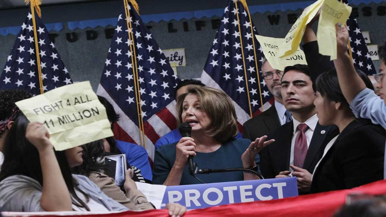 Nancy Pelosi Shouted Down By Pro-Immigration Protesters