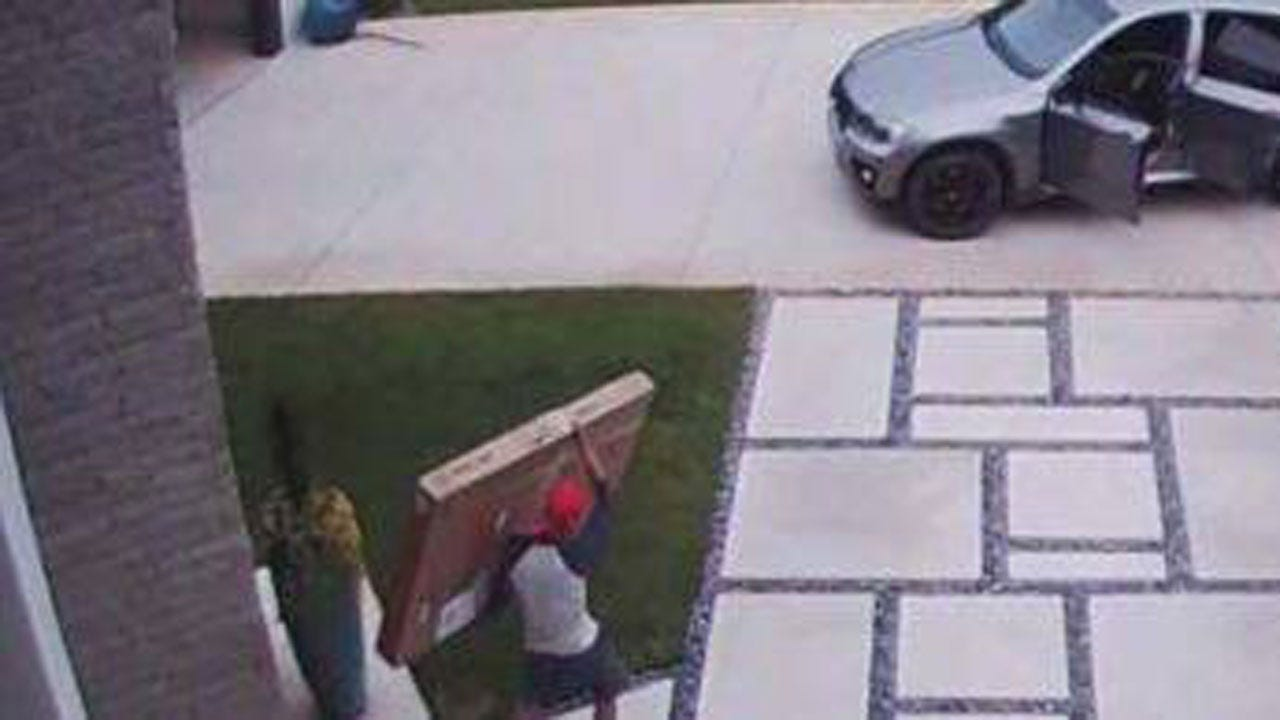 Edmond's Painting Pilfering Porch Pirate Picked Up In Texas