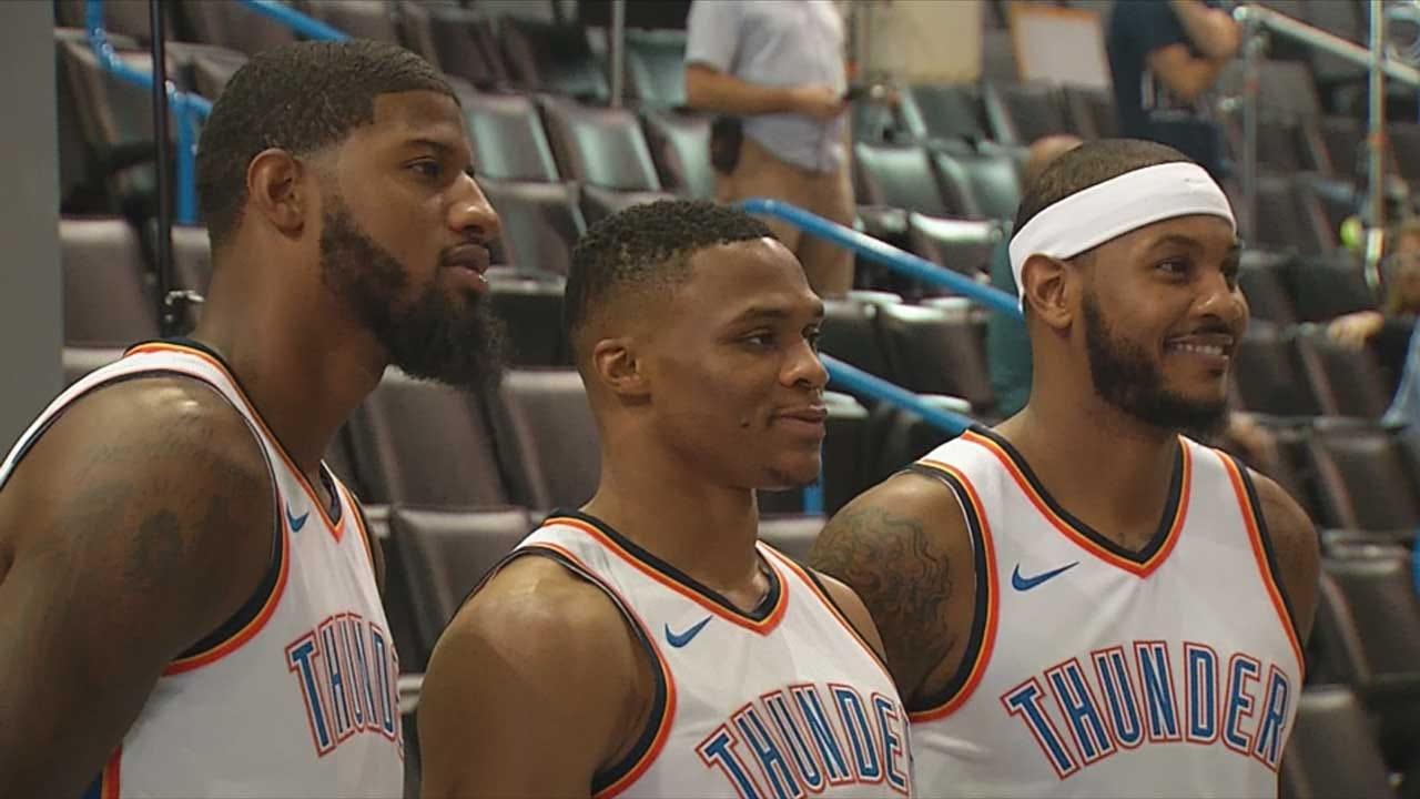 Thunder Players Talk At Media Day