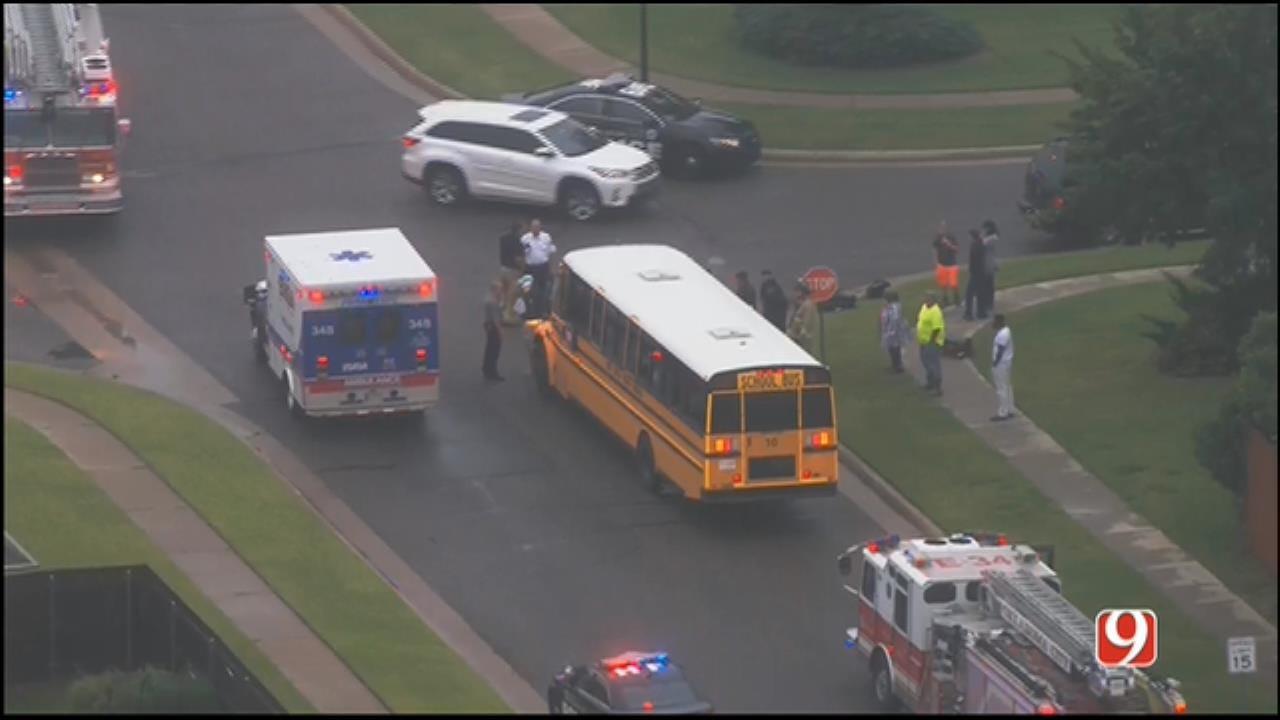 Deer Creek School Bus Involved In Injury Crash In NW OKC