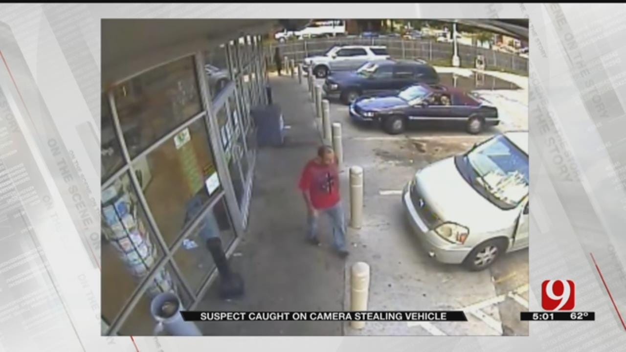 Thief Caught On Camera Stealing Vehicle At Metro Gas Station