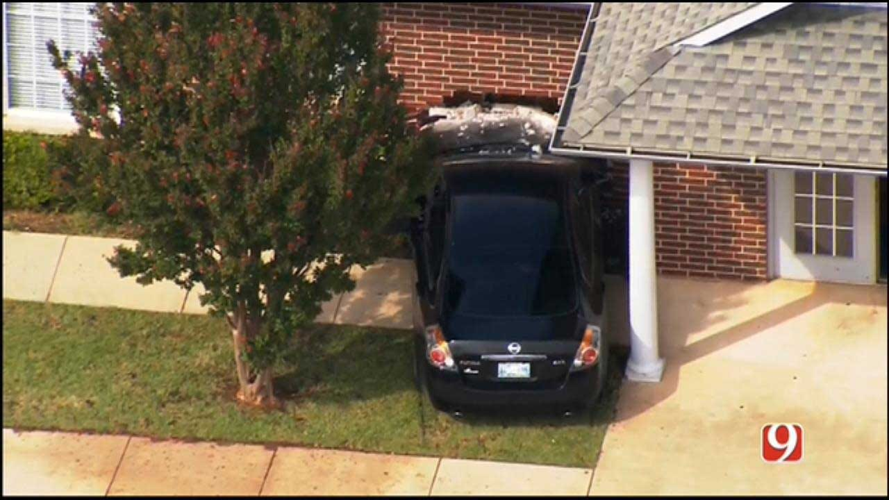 OKCFD: Car Crashes Into Building In NW OKC