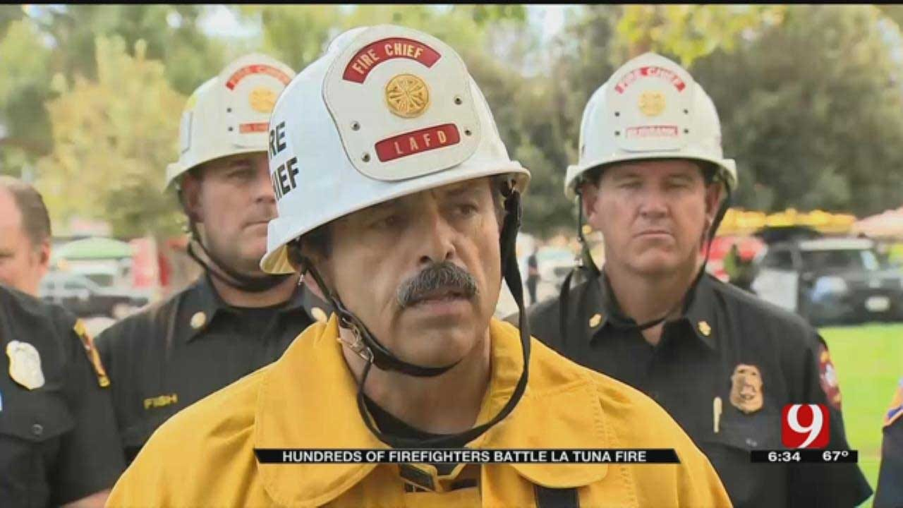 Hundreds Of Firefighters Battle La Tuna Fire