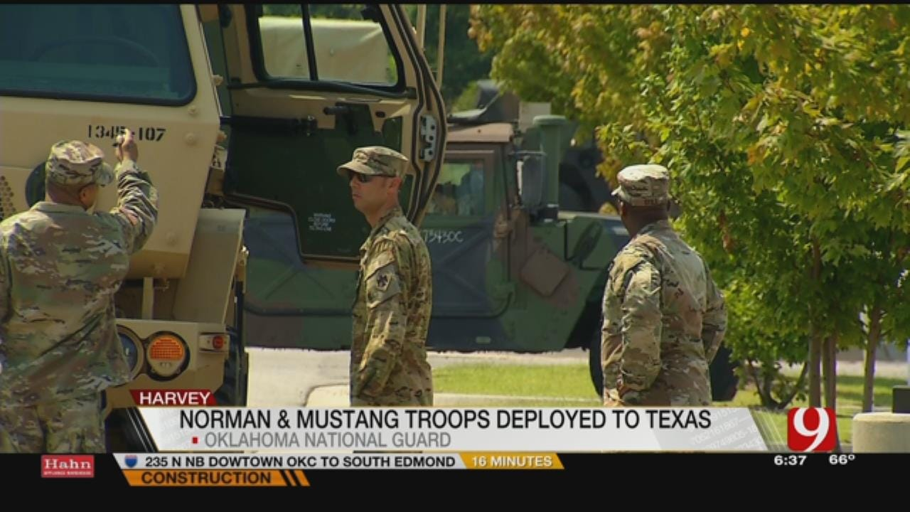 OK National Guard Sends More Help With Harvey Relief Efforts