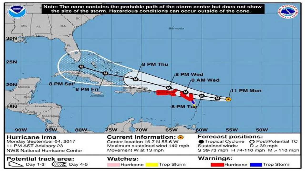 Florida Gov. Declares State Of Emergency As Irma Becomes Cat. 4