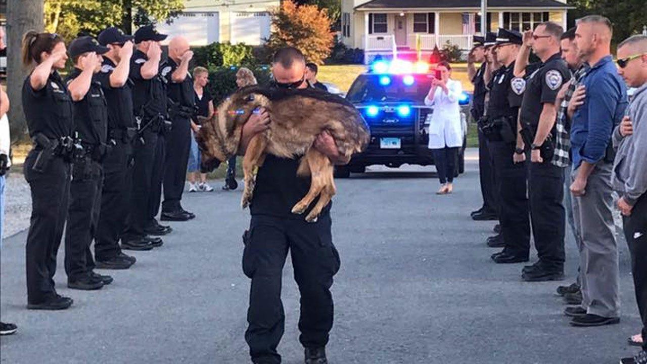 Officer, K9 Take Final Walk