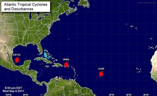 Hurricane Jose Forms In The Atlantic, East Of Hurricane Irma