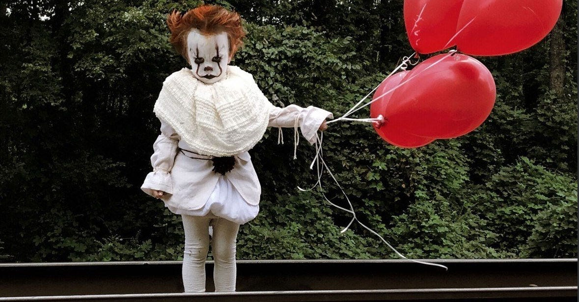 Teen Turns Brother Into Stephen King's Nightmare Clown