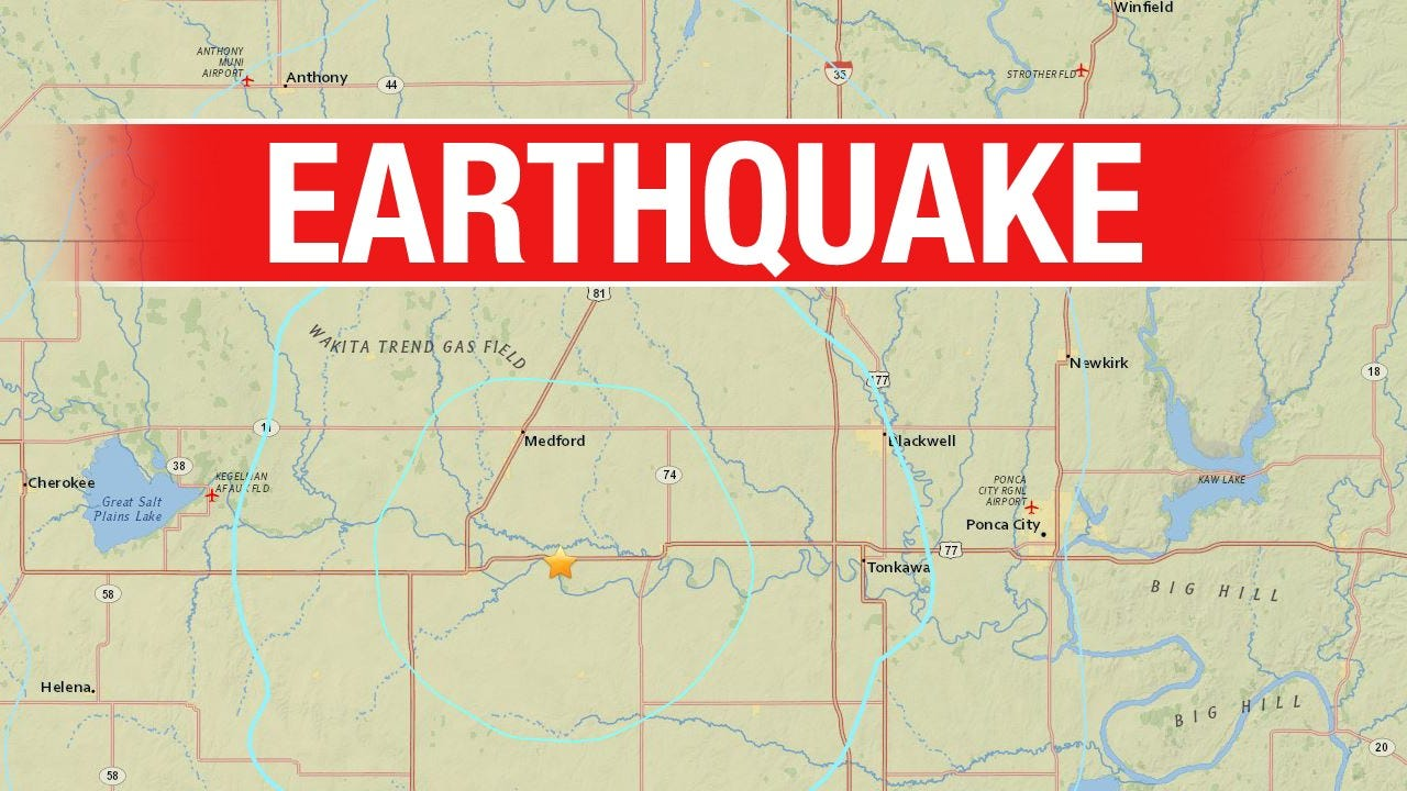 3.9 Magnitude Earthquake Recorded In Northern Oklahoma