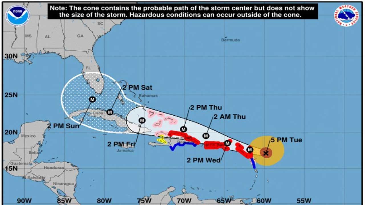 Hurricane Irma Roars Through Caribbean; Expected To Hit US On Sunday