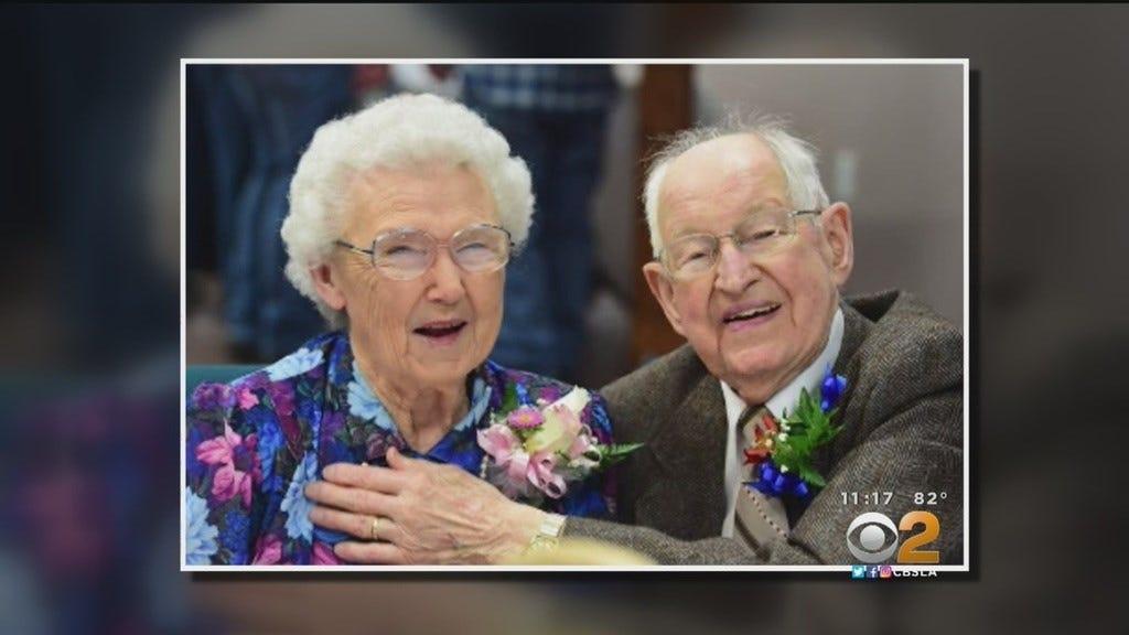 Couple Named Harvey and Irma Celebrate 75th Anniversary