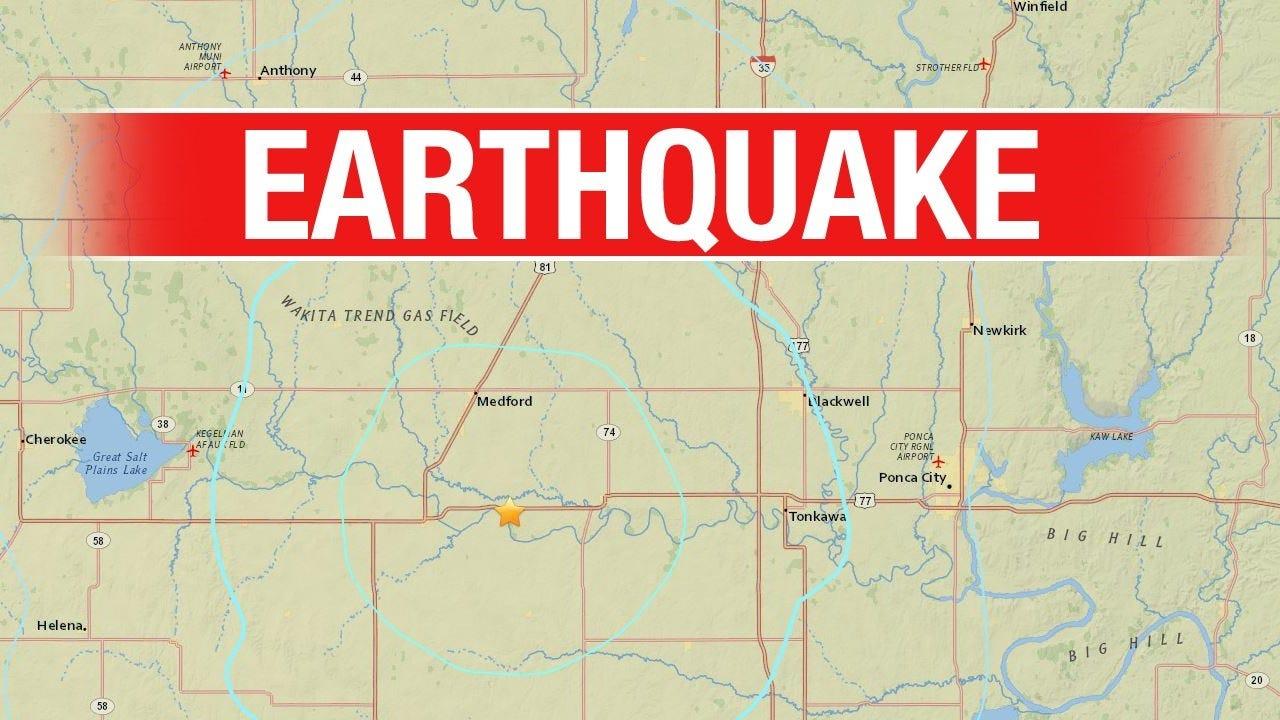 Northern Oklahoma Earthquake Upgraded To 4.3 Magnitude
