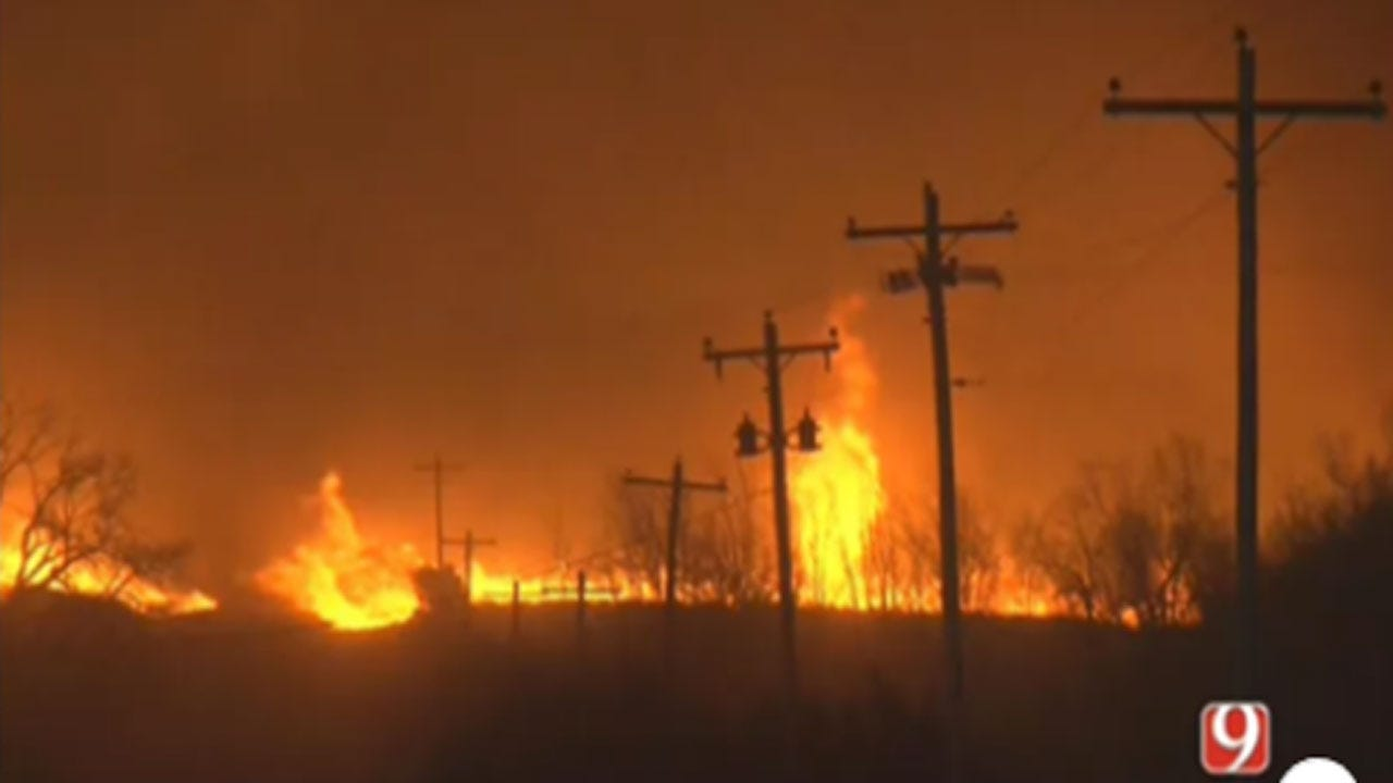Oklahoma Wildfires Burn 200,000 Acres, 1,400 People Forced From Their Homes