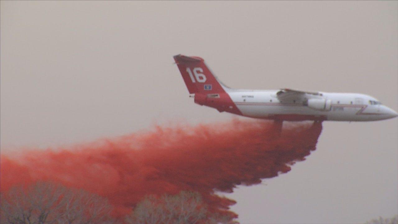Rhea Fire Rages Across Dewey County