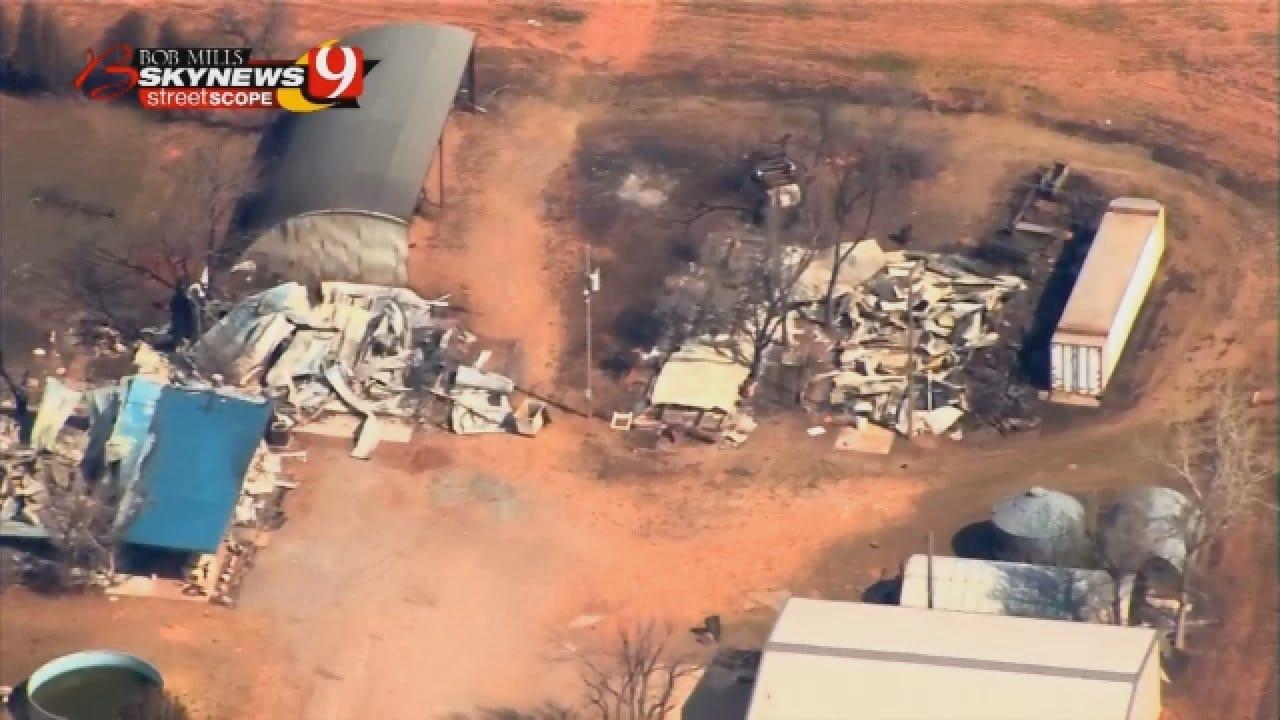 SkyNews 9 Gives Birdseye View Of Wildfire Damage