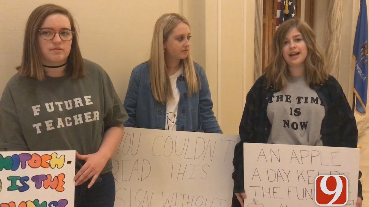 [UNFILTERED] Deer Creek Students At Capitol To Support Teachers