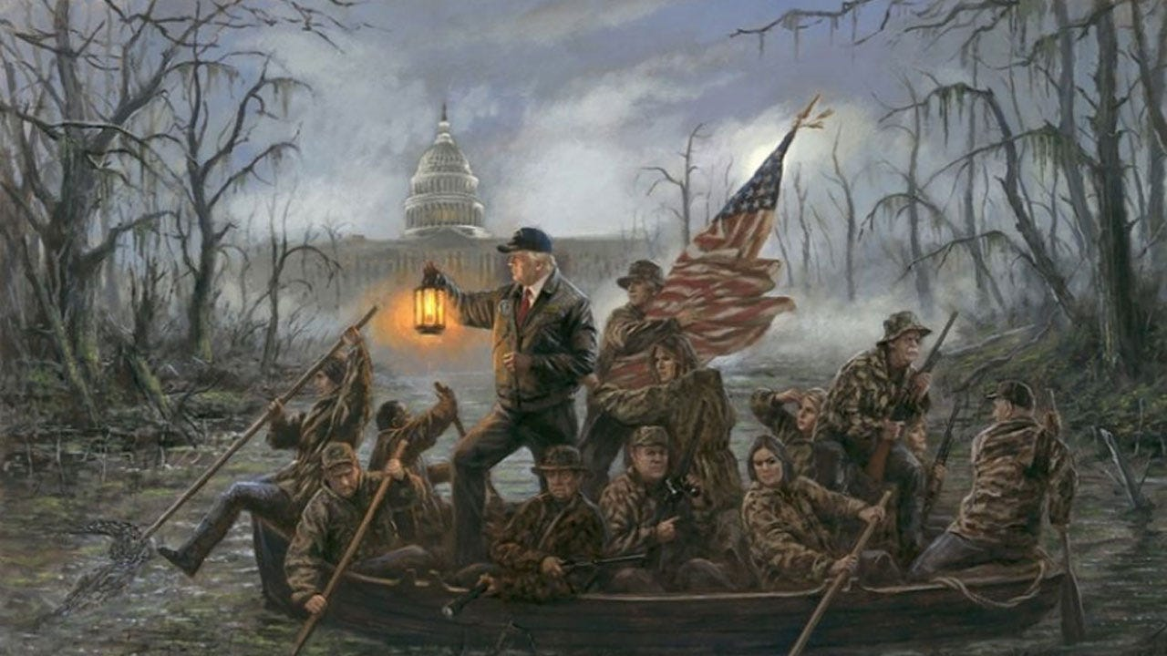 Painting Of Trump Administration Replicates Famous Washington Artwork