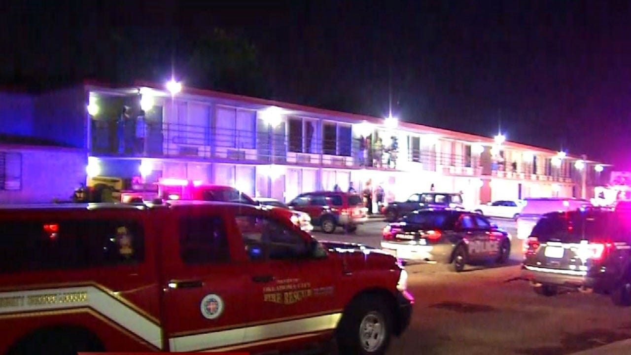 Suspect Arrested For Arson After Fire At OKC's Plaza Inn