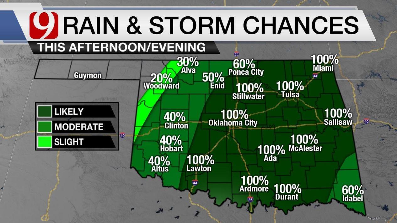 High Rain And Storm Chances Monday Through Wednesday