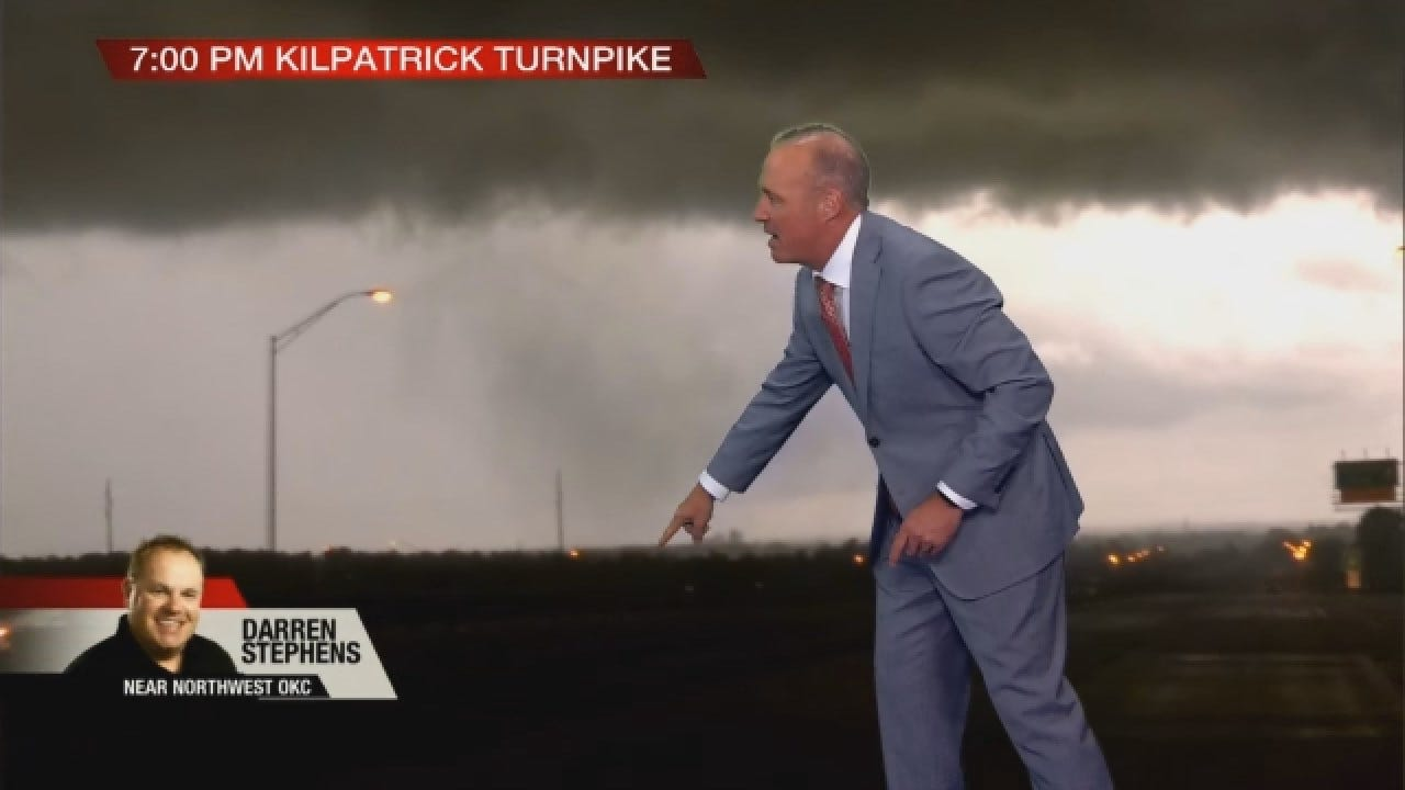 Storms Produce Brief Tornadoes As They Move Across Central Oklahoma