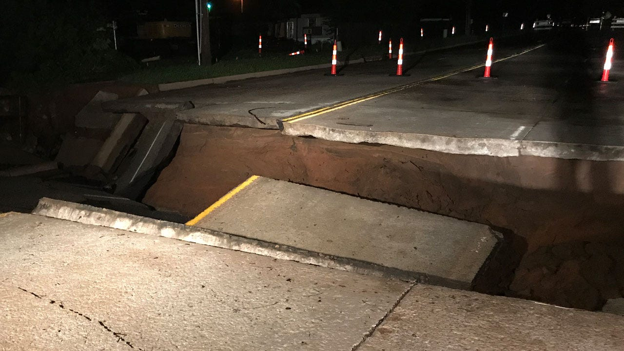 Norman Road Washed Out After Tuesday's Storms