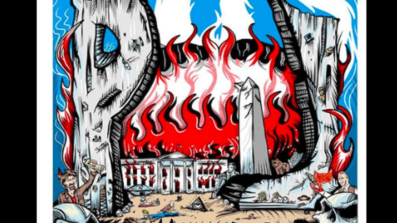 New Pearl Jam Poster Shows White House In Flames